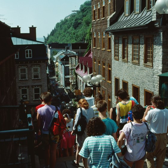 The quaint architecture of Quebec City is ideal for bed and breakfasts.