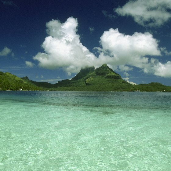 The area of Bora Bora Island is less than 12 square miles.