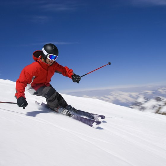 The area around Little Cottonwood Canyon is known for its great skiing.