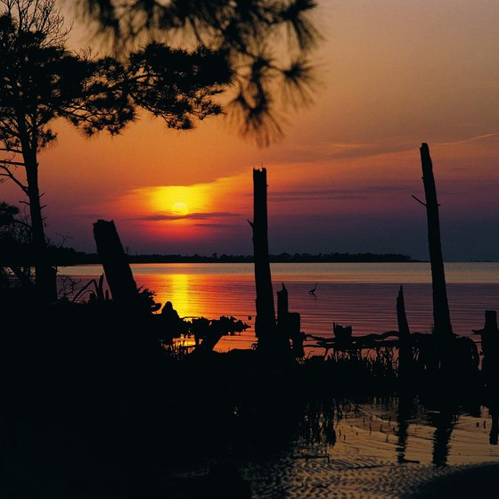 Spectacular sunsets can be seen from the Fort Morgan peninsula