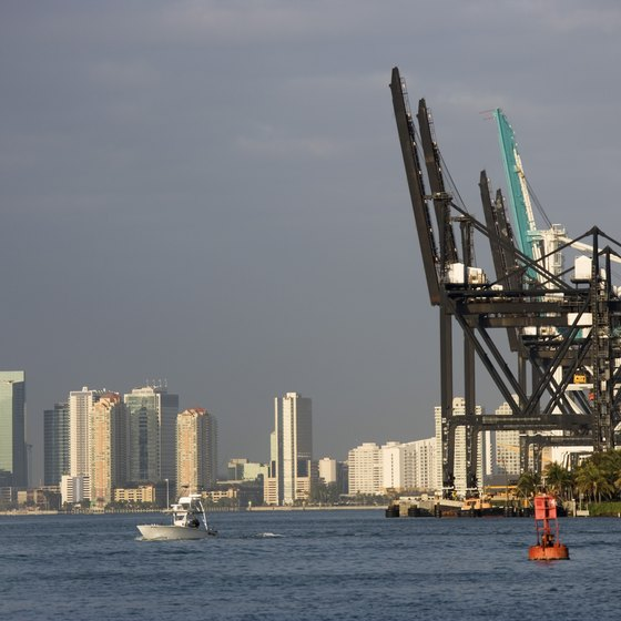 The Port of Miami is the departure point for many cruises.