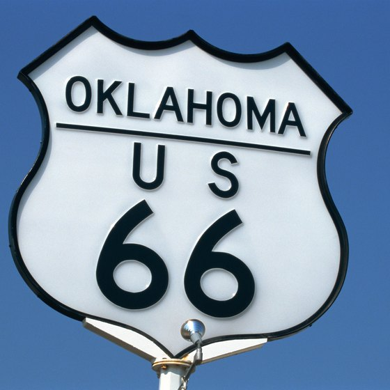 The famous Route 66 passes through Oklahoma City.