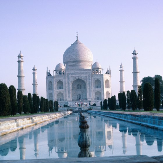 The Taj Mahal is one of India's most famous sites.