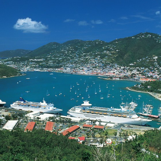The harborside town of Charlotte Amalie is the island's busy hub.