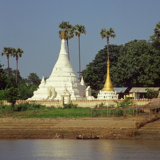 The Irrawaddy River is one of Burma's chief natural features.