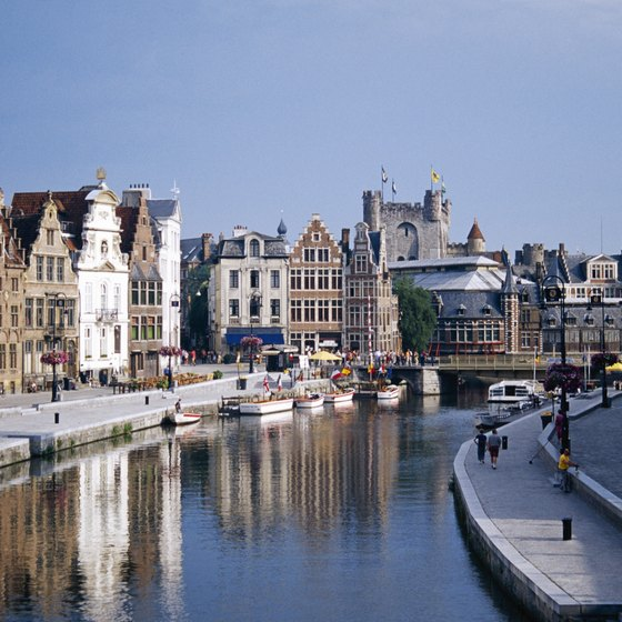 Ghent is at the confluence of the Scheldt and Leie rivers in Belgium.