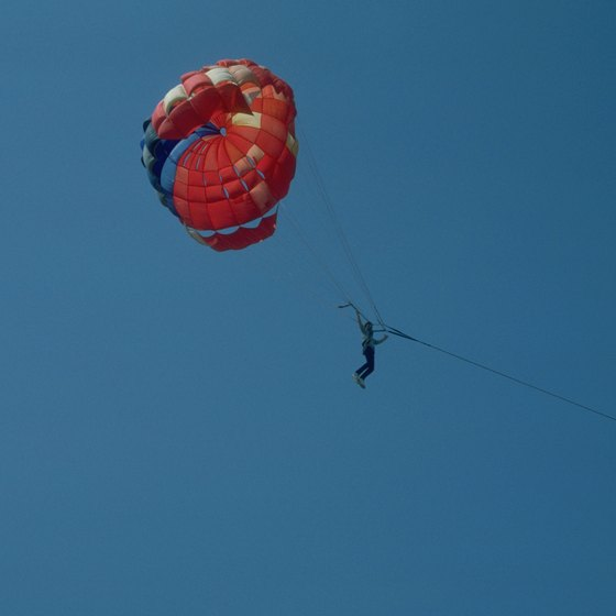 Several Spanish coastal resorts offer parasailing experiences.