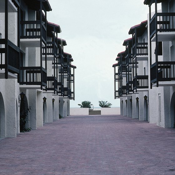 Beachfront condominiums are available for rent on Key West.