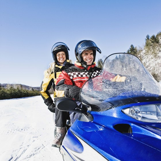 Snowmobile trails criss-cross the St. Lawrence area.