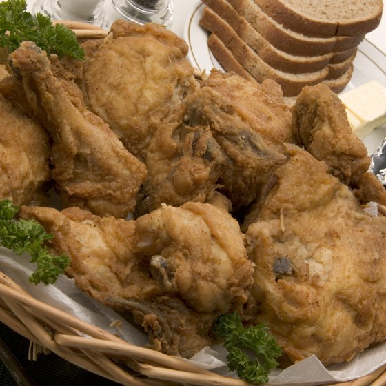 Fried chicken is a staple on several Bridgeport restaurant menus.