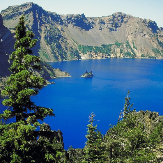 Crater Lake National Park in Oregon is visited year-round.