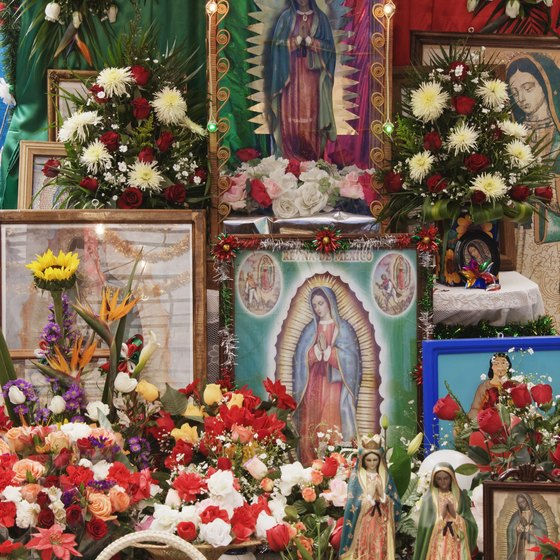 Colorful, contemporary religious art has deep Mesoamerican roots.