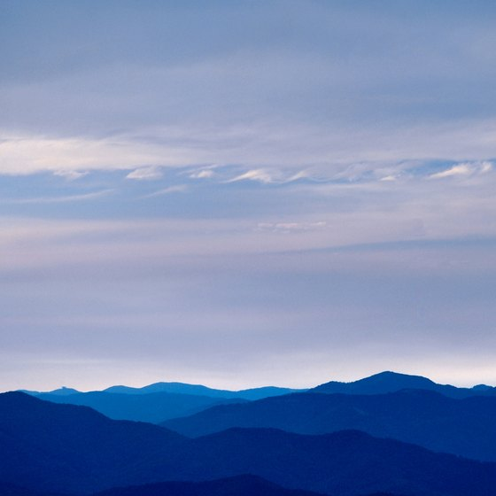 Asheville overlooks the Blue Ridge Mountains of western North Carolina.