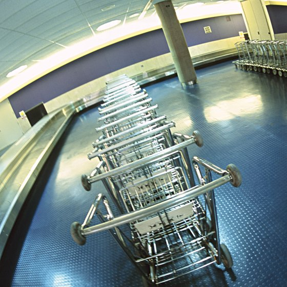 If you can't get a cart to haul your luggage, hooking it together is another option.
