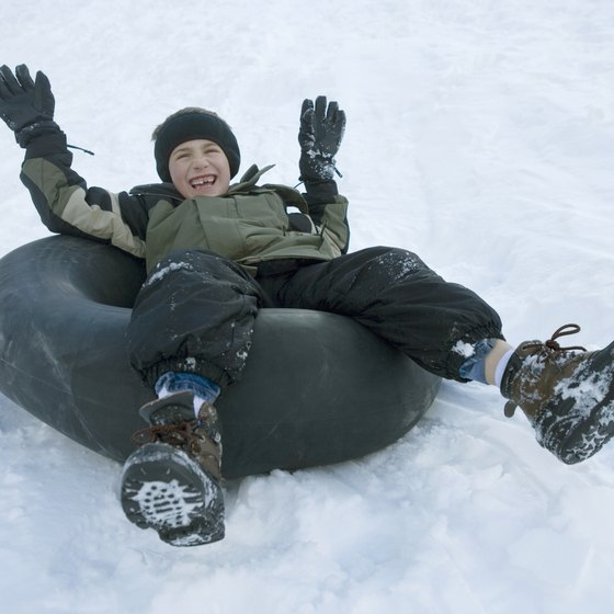 Several snow play parks offer tubing near Kingvale, California.