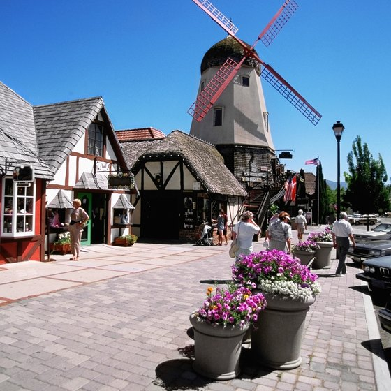 "Solvang, California's ""Little Denmark,"" averages more than 300 sunny days a year."