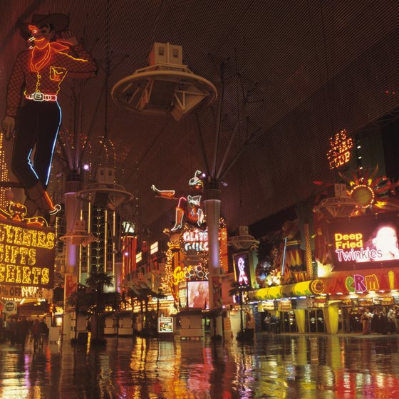 The first casinos in Las Vegas sprung up on Fremont Street downtown.