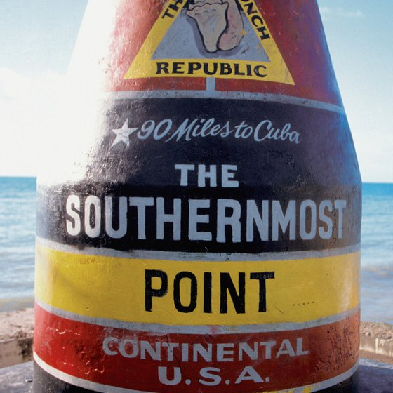 Key West is the southernmost point in the United States.