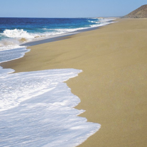 Beaches on the Baja Peninsula of Mexico are popular tourist destinations.