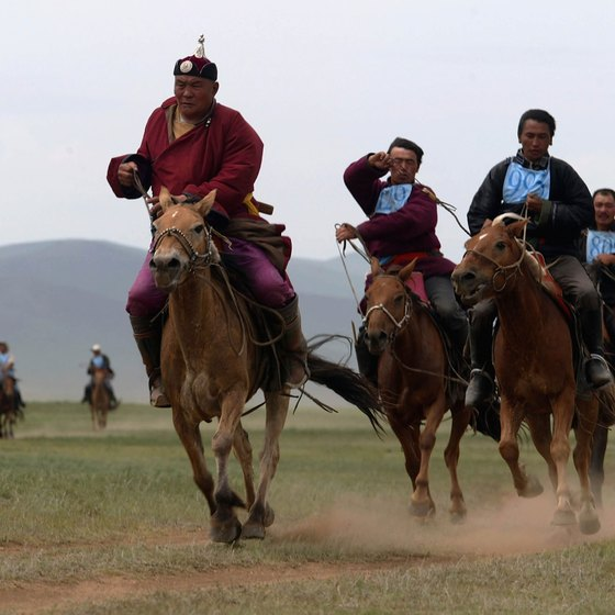 Mongolians keep their traditions alive and celebrate them through annual festivals.