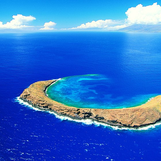 Molokini Crater is a favorite spot off the coast of Maui.