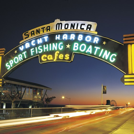 The Santa Monica Pier is one of California's historic beachside piers.