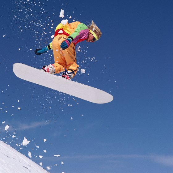 Winter recreation areas in Indiana offer snowboarding facilities for all ages.