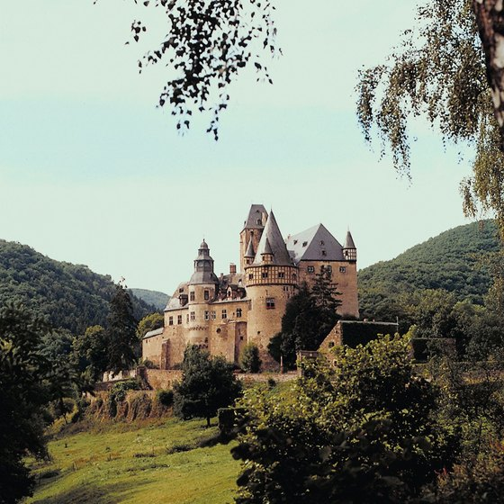 Scenic views of German castles are a common sight along bike tour routes.