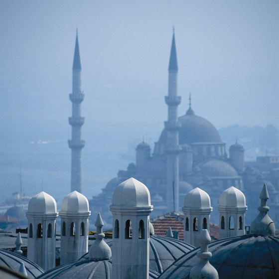 The skyline of Istanbul reflects its Eastern face.