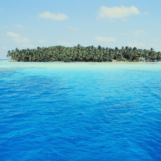 Crystalline tropical water and numerous reefs make the Maldives popular with snorkelers.