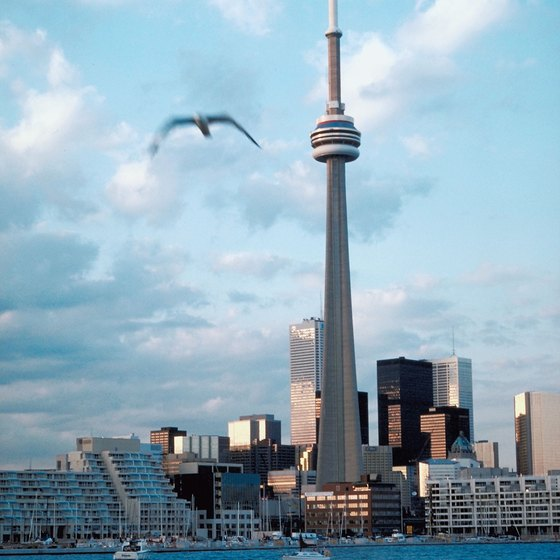 The CN Tower is a popular attraction in downtown Toronto.