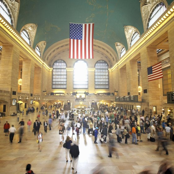 750,000 passengers pass through New York's Grand Central Terminal daily.