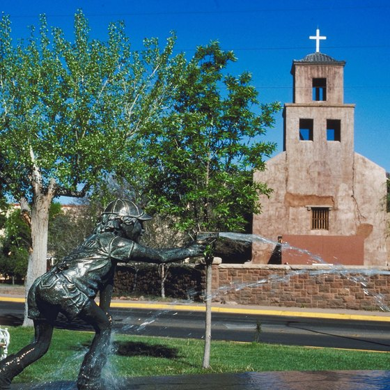 There are many historic buildings and churches in Santa Fe.