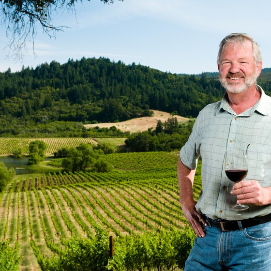 Jeans and a collared shirt are standard attire for Sonoma in autumn.