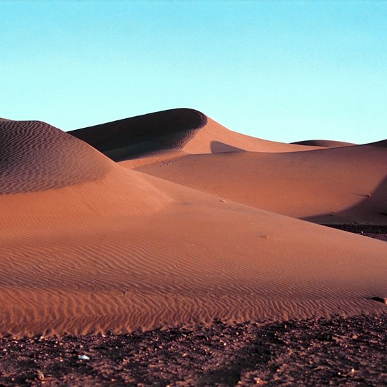 The Sahara desert dominates North Africa.