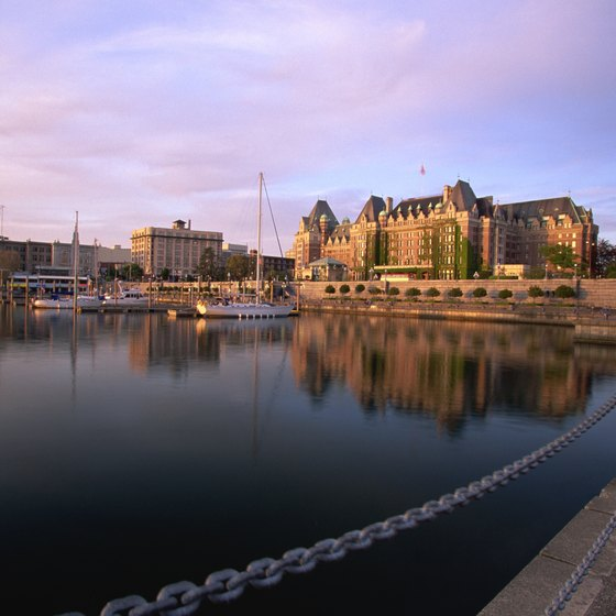 The Inner Harbour Walkway leads past the Empress Hotel.