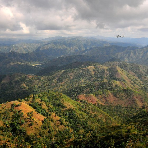 Rugged mountains dominate Haiti's terrain.