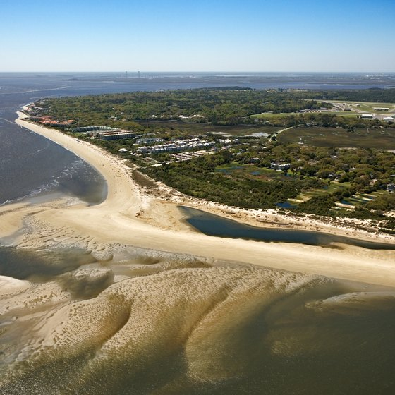 St. Simons is one of a string of Georgia barrier islands backed by extensive salt marshlands.