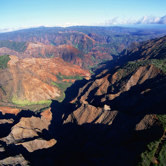Koke'e visitors are afforded spectacular views of Waimea Canyon.