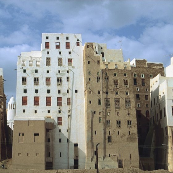 Distinctive architecture marks Yemen's skylines.