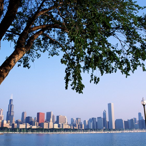 Tall buildings and a beautiful blue lake reveal Chicago's romantic side.
