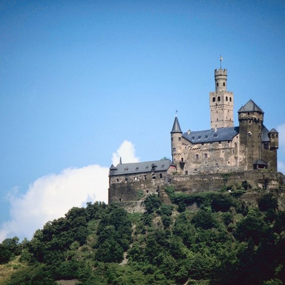 One of the old castles that still survive along the Rhine.