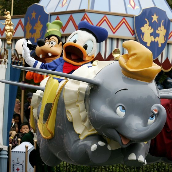 Guests can meet Disney characters or ride Dumbo the Flying Elephant at each of the Disneyland locations worldwide.