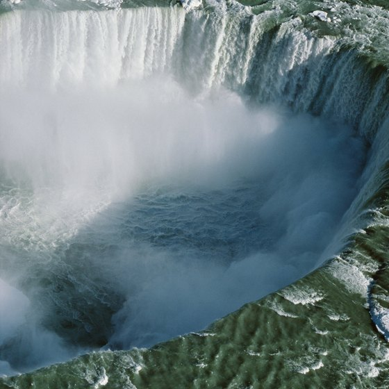 Horseshoe Falls on the Canadian side of Niagara Falls is considered the more spectacular view.