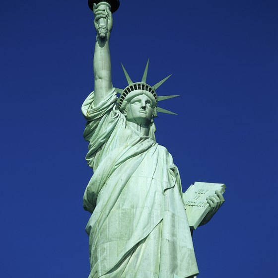 Visitors to the Statue of Liberty can climb 20 stories into the statue's crown.