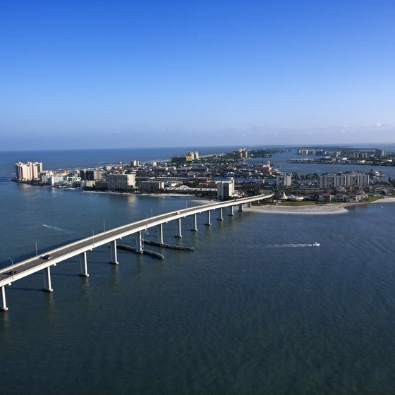 Bridges connect the islands to Clearwater's mainland.