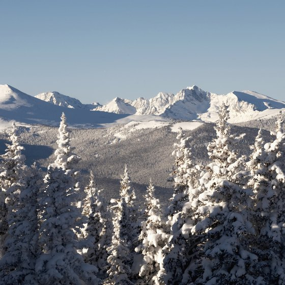 The Rockies provide a beautiful backdrop for romantic ski getaways in Colorado.