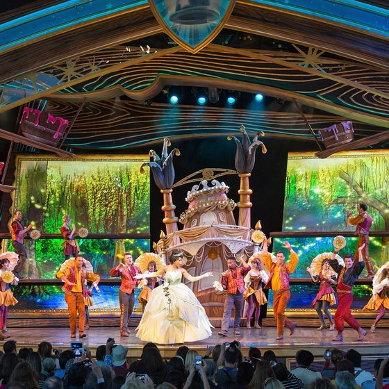 Lively musical shows are a part of both Disneylands -- in America and Tokyo.