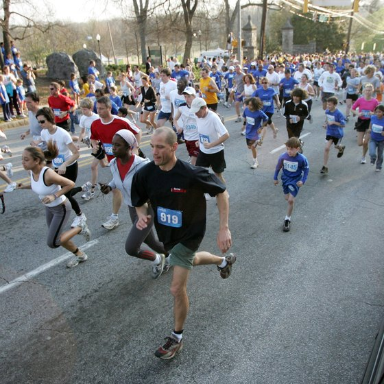 Couples can enjoy a stroll -- or run -- together, in Piedmont Park.