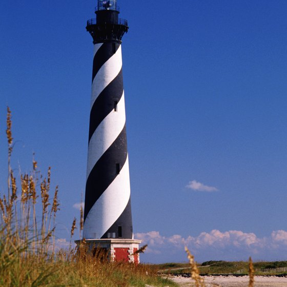 The iconic Cape Hatteras lighthouse is not far from Nags Head.